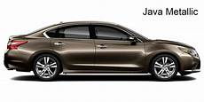 2017 nissan altima exterior paint options and interior color choices