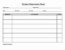 student observation sheet by sptalkative teachers pay teachers