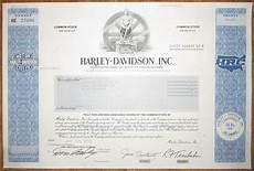 Harley Davidson Certification by Usa Harley Davidson Inc Certificate 1991