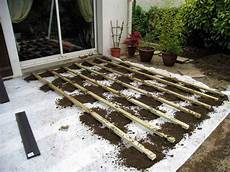 comment poser une terrasse composite sur lambourdes et