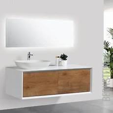Unterschrank Für Aufsatzwaschbecken - badm 246 bel 120 cm eiche led spiegel aufsatzwaschbecken