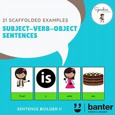 subject verb object svo sentences by speechies in business tpt