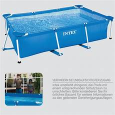 intex 260x160x65 swimming pool mit pumpe schwimmbecken