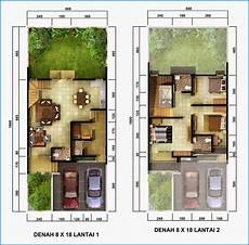 Denah Rumah Minimalis 2 Lantai Sederhana Denah Rumah 2