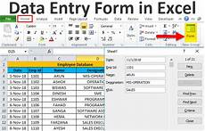 excel forms exles how to create data entry form in
