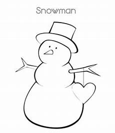 easy snowman coloring pages learning