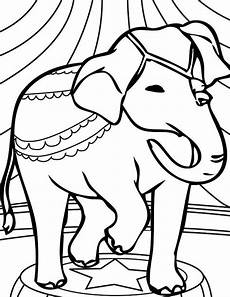 circus elephant coloring pages getcoloringpages