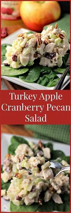 renees kitchen adventures turkey apple cranberry pecan salad by renee s kitchen