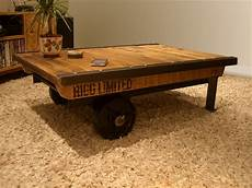 mill cart coffee table industrial factory cart coffee table