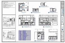 Kitchen Plan Elevation And Section kitchen plan elevation drawing