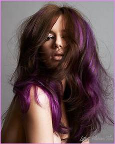 brown hair with purple streaks latestfashiontips com