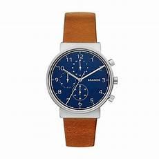 skagen chrono skw6358 herrenuhr mit blauem ziffernblatt