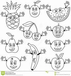coloring fruit characters royalty free stock photo image