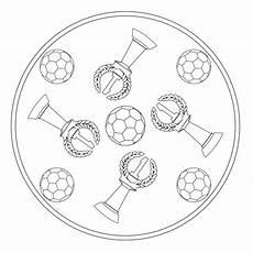 Malvorlage Mandala Fussball Fu 223 Mandala F 252 R Kindergarten Kita Und Schule