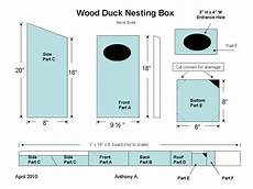 wood duck houses plans how to build a wood duck nest box feltmagnet
