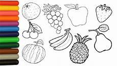 fruits coloring pages for children coloring orange banana