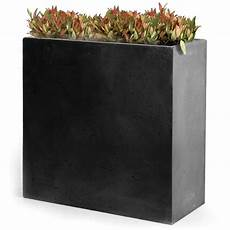 jardinière en fibre rectangulaire bac 224 fleurs fibre de terre clayfibre l80 h92 cm