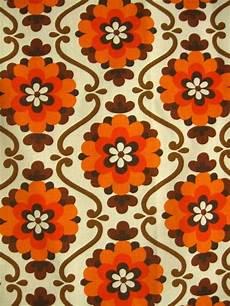 70er Vorhangpaar Mustertapete Vintage Wallpaper Und Tapeten