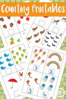 free math counting printables for preschool