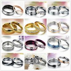 wedding couple rings stainless steel ring engagement love bands matching ebay