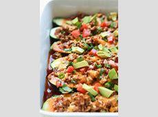 Ground Beef Enchilada Zucchini Boats   Easy Healthy Recipes