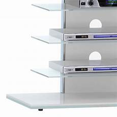 elegantes tv rack aus glas made in germany 80x66x42 cm