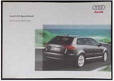best auto repair manual 2007 audi a3 user handbook a3 car owner operator manuals ebay