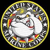USMC Marine Bulldog Cartoon Logo Design