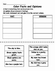 fact and opinion worksheets cut and paste fact and opinion cut and paste by eddie s endeavor tpt
