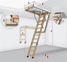 Fakro Escalier Escamotable Lwf 45 Avec Une Echelle En