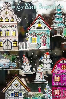 die gro 223 e winterstadt kreidestift fenster weihnachten