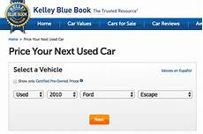 kelley blue book used cars value trade 2012 how to determine the value of a car yourmechanic advice