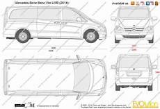 The Blueprints Vector Drawing Mercedes Vito Lwb