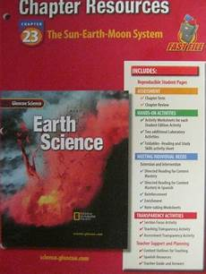 earth science glencoe worksheets 13304 glencoe earth science chapter resources 23 p 0078269547 18 95 k 12 quality used