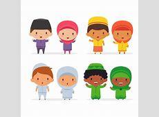 Cartoon Muslim Children   Download Free Vectors, Clipart