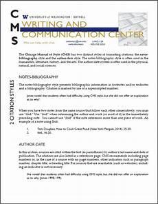 chicago style formatting writing communication center uw bothell