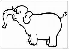 Malvorlagen Tiere A4 A4 Size Printable Elephant Coloring Pages For