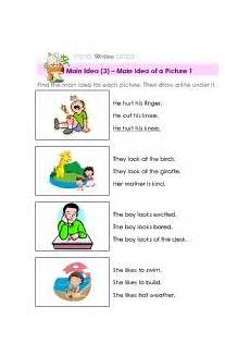 english worksheet main idea of a picture main idea worksheet main idea reading worksheets