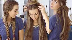 3 quick and easy boho hairstyles cute heatless