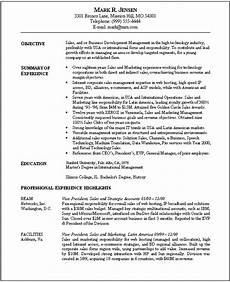 resume template marketing objectives resume exle with