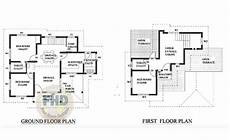 two bedroom house plans kerala style 1359 square feet 3 bedroom kerala style two floor house