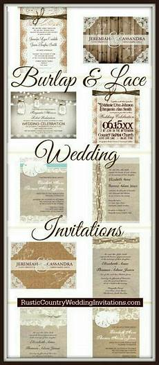 burlap and lace wedding invites country wedding