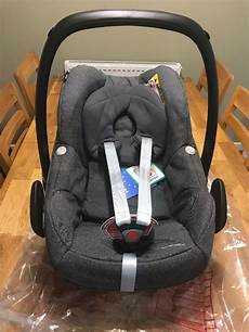 new maxi cosi pebble sparkling grey baby car seat in