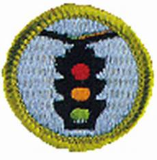 traffic safety merit badge and worksheet