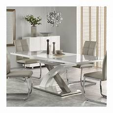 Table A Manger Grise Et Blanc Design Extensible 220cm X