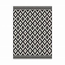 tapis losange noir et blanc 120 x 170 cm tapis losange