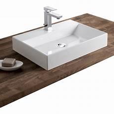 Lavabo A Poser Vasque 224 Poser R 233 Sine De Synth 232 Se L 50 X P 36 Cm Blanc