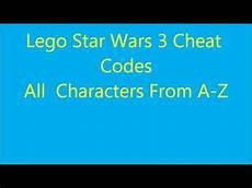 lego wars 3 codes for all characters from a z