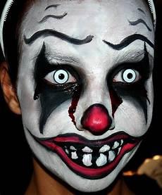 maquillage facile qui fait peur maquillage de clown qui fait peur pour facile