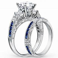 kirk kara quot quot blue sapphire diamond engagement ring